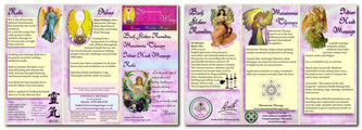 Shimmering Wings trifold leaflet button